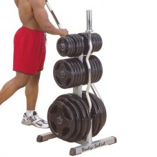 Body-Solid Olympic Plate Tree & Bar Holder (GOWT)